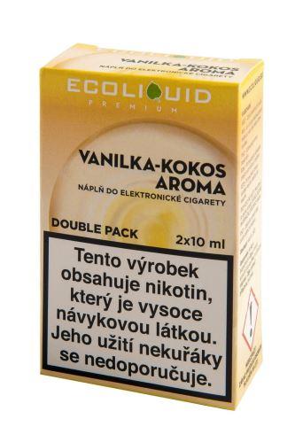 Ecoliquid 2x10ml vanilka-kokos 18mg