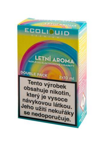 Ecoliquid 2x10ml Letní aroma 2x10ml 12mg