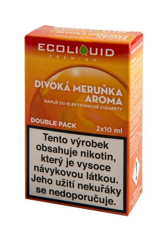 Ecoliquid 2x10ml divoká meruňka 18mg