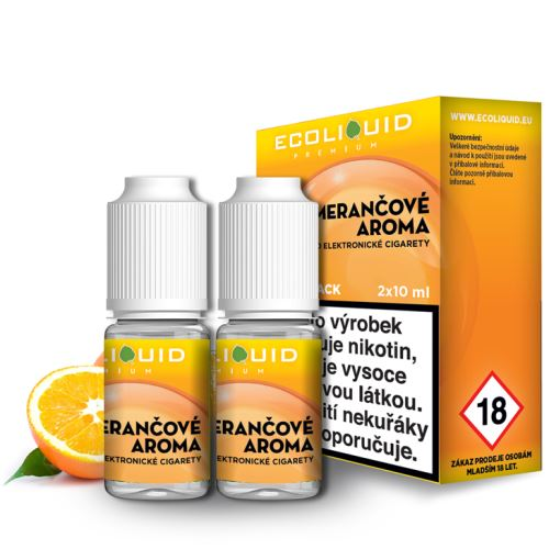 ecoliquid pomeranč 2x10ml