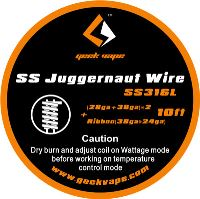 GeekVape SS Juggernaut (28ga+38ga)*2+Ribbon(38ga+24ga) SS316L 3m