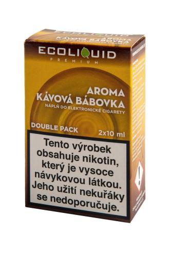 Ecoliquid 2x10ml kávová bábovka 0mg