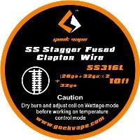 GeekVape Stagger Fused Clapton (26ga+32ga)*2+32ga SS316L 3m