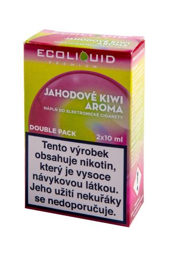 Ecoliquid 2x10ml Jahodové kiwi 2x10ml 20mg