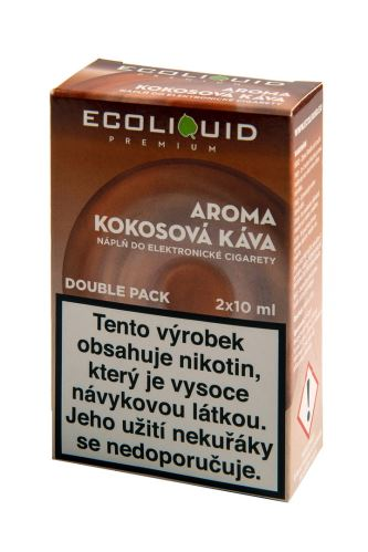 Ecoliquid 2x10ml kokosová káva 12mg