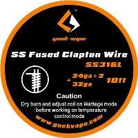 GeekVape SS Fused Clapton SS316L 24ga*2+32ga SS316L 3m