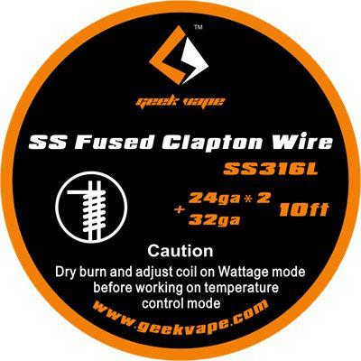 odporový drát GeekVape SS Fused Clapton SS316