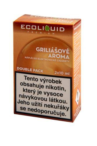 Ecoliquid 2x10ml Griliášové aroma 2x10ml 20mg