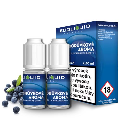 ecoliquid borůvka 2x10ml